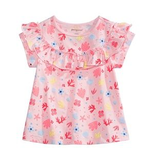 First Impressions Shirts & Tops - NWT First Impressions Shell Print Ruffle Top 18mo